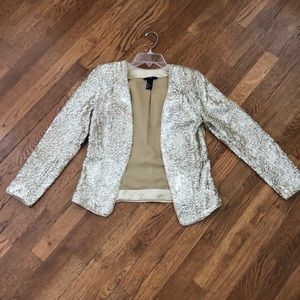 H&M gold sequin blazer